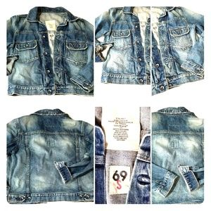 '69 Gap Jean Jacket -size S , controlled fading
